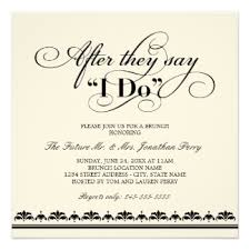 after wedding after wedding brunch invitations announcements zazzle