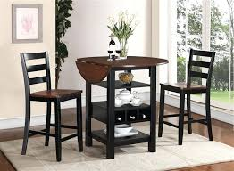 counter height dining table with leaf drop leaf dining table set 3 piece counter height dining set in