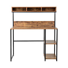 Metal Computer Desk With Hutch by Rustic Industrial Writing Desk Computer Table Office Furniture