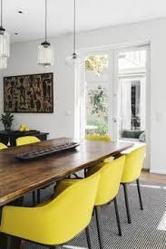 chaises jaunes voici la salle à manger contemporaine en 62 photos salons