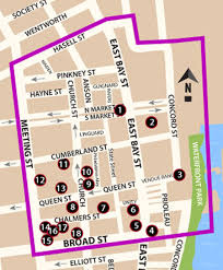 charleston trolley map map of the quarter district in charleston sc to get