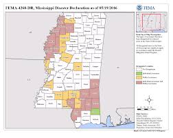 County Map Of Mississippi Mississippi Severe Storms And Flooding Dr 4268 Fema Gov