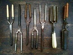 fashioned hair antique english hair styling curlers and crimpers instant