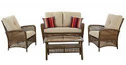Hampton Bay 4 Piece Patio Set Delaronde 4 Piece All Weather Wicker Patio Conversation Set With