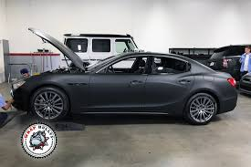 matte orange maserati matte black maserati with silver accents wrap bullys