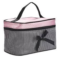 aliexpress com buy women u0027s makeup case square bow stripe bag