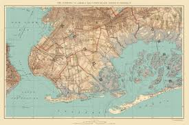 Brooklyn Ny Map Old Map Jamaica Bay Coney Island Brooklyn New York