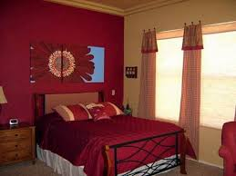 create romantic and tranquil feels with red bedroom decorating