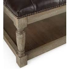 brown leather square ottoman carlton tufted leather square ottoman 42 zin home