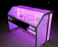 bar rentals 6ft led lighted acrylic bar rentals