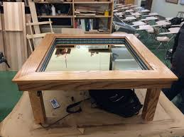 Infinity Mirror Desk 15 Year Old Builds Amazing Infinity Coffee Table For High