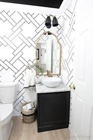 Black And White Powder Room The New Gold Arched Mirror Is Here Cuckoo4design