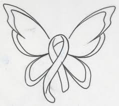 butterfly cancer ribbon stencil photos pictures