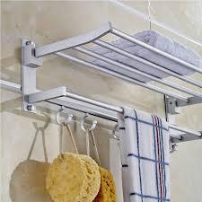 bathroom brushed nickel hotel towel rack for nice bathroom satin nickel hotel towel rack with hooks for bathroom decoration ideas