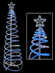 blue cool white 3d led rope light spiral tree 1 8m