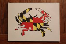 Painting A Flag Hand Painted Canvas Maryland Flag Inside The Outline Of A