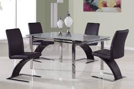 Global Furniture Dining Room Sets Global Furniture Usa 2 Pc Zigzag Dining Chair Set In Black