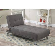 Sofa Bed Chaise Lounge by Slate Polyfiber Fabric Chaise