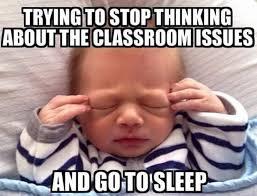 Funny Sleep Memes - teacher memes sunday night anxiety faculty loungers