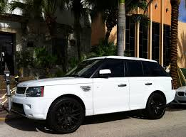range rover sport custom wheels white range rover sport supercharged with black rims exotic cars
