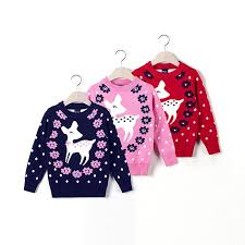 a deer sweater cotton made knits 100 140cm height child