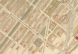 Copley Square Boston Map by Bauzeitgeist