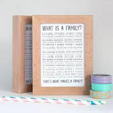 family gift family poem in solid beech frame gift for