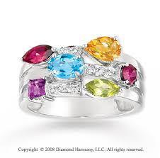 gem diamond rings images White gold stunning multi gem diamond ring jpg