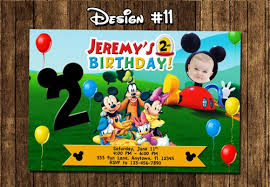 mickey mouse clubhouse party mickey mouse clubhouse birthday party photo invitations printable