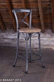 Metal Chaise Chaise Haute Bistrot Bois Metal De B A R A K U00277 Tous Nos Meubles