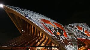 indigenous artwork lit up the sydney opera house national geographic