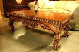 hand carved coffee table hand carved coffee table hand carved coffee table with glass top