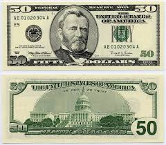 u s fifty dollar bill 1996 50 federal reserve ladder note s n