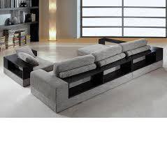 fabric sectional sofas with chaise dreamfurniture com divani casa anthem modern fabric sectional