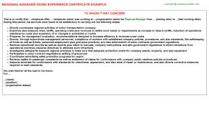 Internal Audit Job Description For Resume by Regional Manager Internal Audit Work Experience Letters