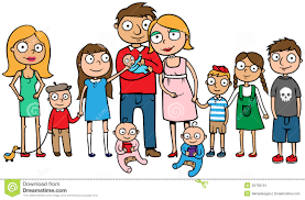 large family with many children stock image image 35705101