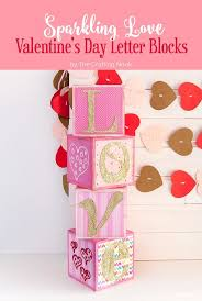 diy sparkling love valentine u0027s day letter blocks the crafting