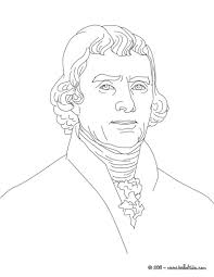president thomas jefferson coloring page history coloring sheets