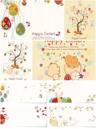 sweet easter greeting cards set vector free