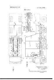 patent us3718346 truck comprising tractor and semi trailer
