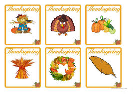thanksgiving flash cards worksheet free esl printable worksheets
