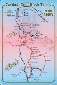Iditarod Map Cariboo Trail Map Fraser River Cariboo Goldrush Barkerville