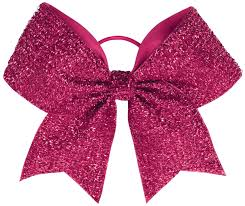 hair bow chassé tinsel performance hair bow omni cheer