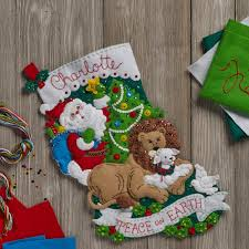 100 seasonal home decorations bucilla seasonal felt shop plaid bucilla seasonal felt stocking kits peace on