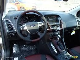 2014 Ford Focus Se Interior 2014 Ford Focus Titanium Hatchback Tuscany Red Dashboard Photo