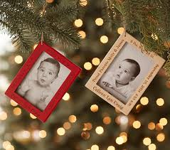 personalized wood frame ornaments pottery barn