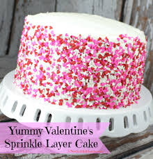 easy u0026 yummy valentine u0027s sprinkle layer cake frosting tips
