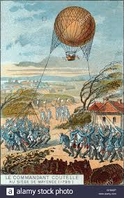 siege adp colonel coutelle with his balloon during the siege of mainz the