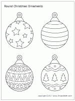 tree ornaments printable templates coloring pages