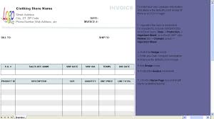 clothing store invoice template download